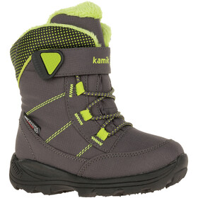 Kamik Stance Shoes Kids charcoal/lime